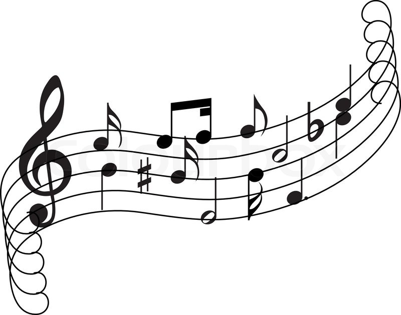 musical notes staff theme for use in web design stock vector rh colourbox com Music Treble Clef Staff Music Notes Clip Art