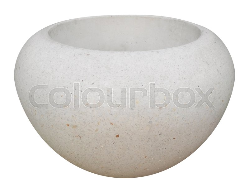 Stock image of 'Large stone vase isolated on white with Clipping Path'