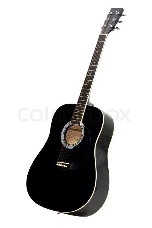 black acoustic guitar isolated on white background stock photo rh colourbox com