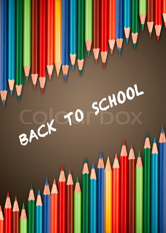 Stock image of 'Multicolored pencils for the welcome back to school'