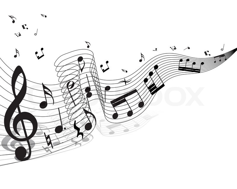 musiknoten mitarbeiter thema für den   vektorgrafik