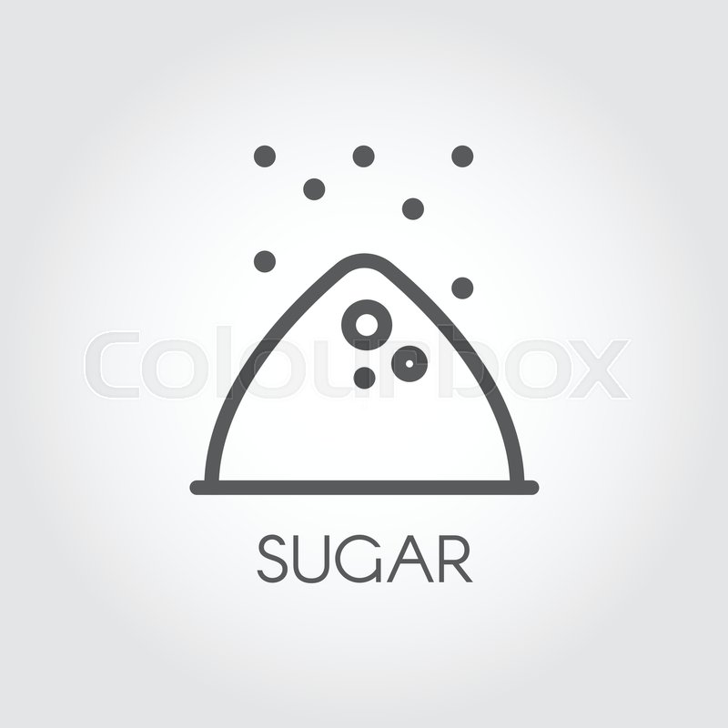 Contour Icon Of Sugar Bunch Symbol Drawing In Line Style For