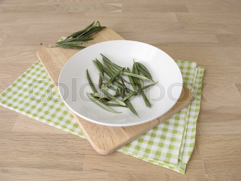 Stock image of 'Dried olive leaves'