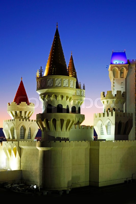 Editorial image of 'Las Vegas, Nevada, USA - September 19, 2011: The Excalibur Hotel & Casino is shown in this image taken at night on September 19, 2011 in Las Vegas, Nevada.'