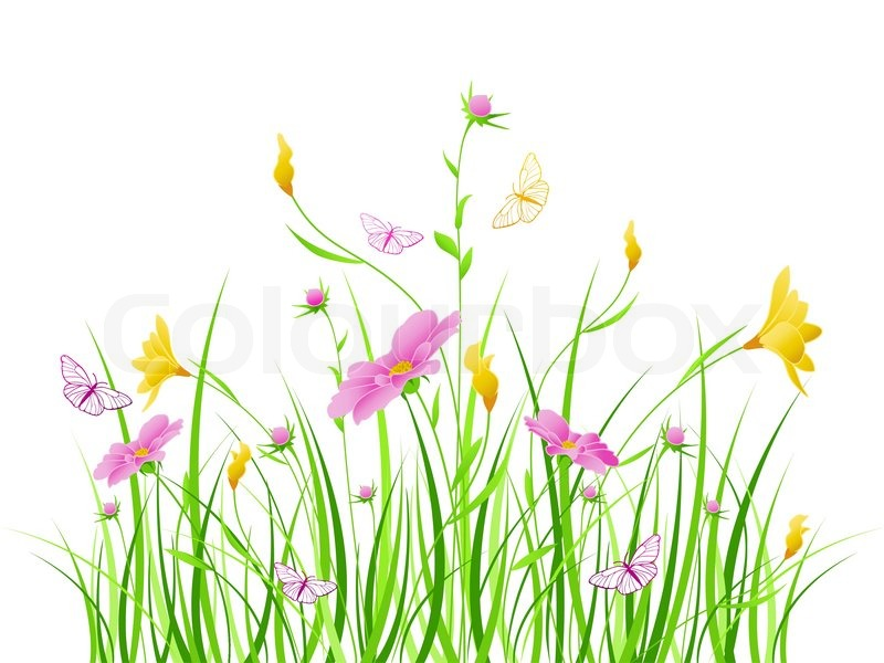 Vector floral background with pink and yellow flowers stock vector vector floral background with pink and yellow flowers stock vector colourbox mightylinksfo