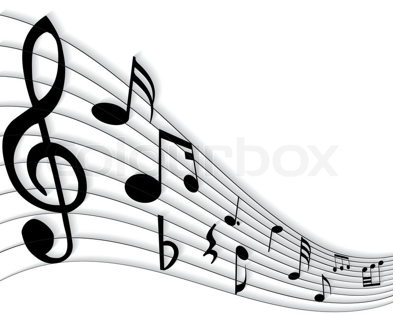 vector musical notes staff background for design use stock vector rh colourbox com Music Notes Border Music Notes Clip Art Free Download