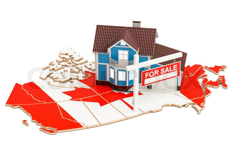 Stock image of 'Property for sale and rent in Canada concept, 3D rendering'