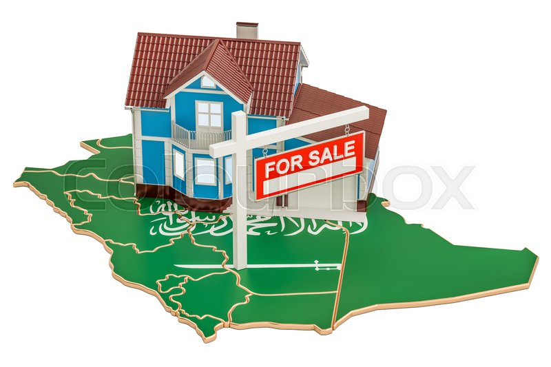 Stock image of 'Property for sale and rent in Saudi Arabia concept, 3D rendering'