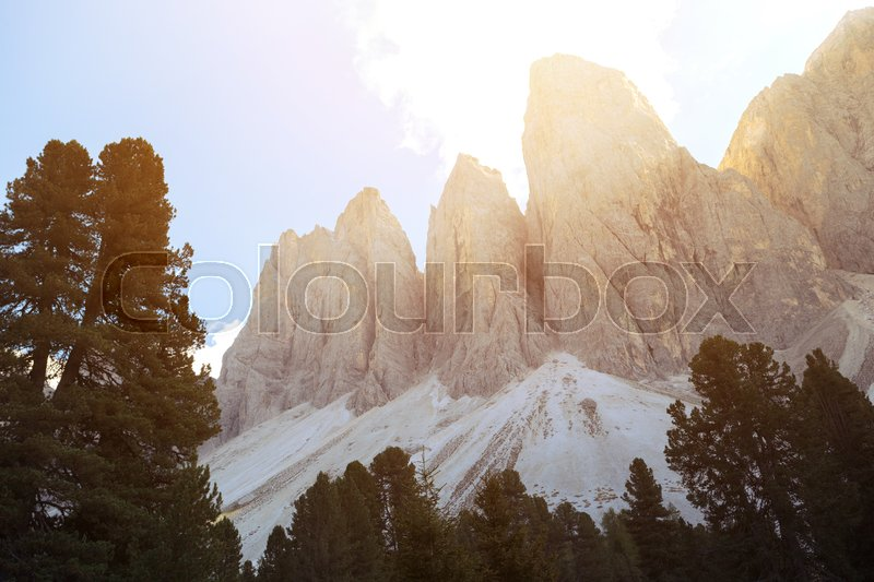 Stock image of 'puez odle nature park. Val Gardena to Alta Badia. Italy. '