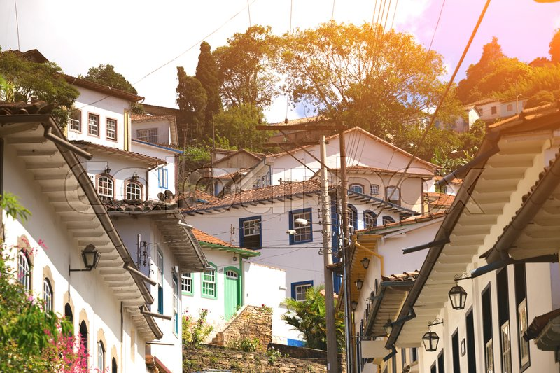 Stock image of 'streets of the famous historical town Ouro Preto, Minas Gerais, Brazil  '