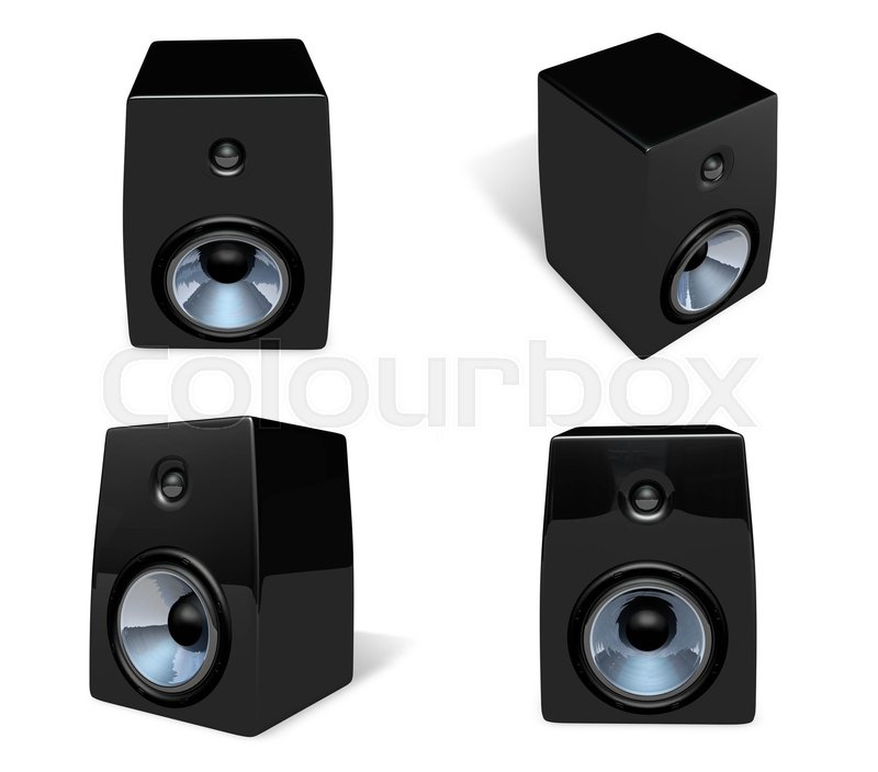 3D Speaker icon. 3D Icon Design Series.   Stock Photo   Colourbox