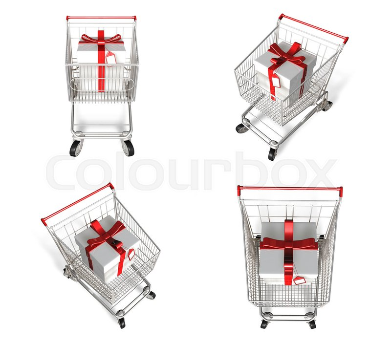 3d shopping cart and purchase icons 3d icon design series stock