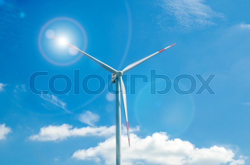 Stock image of 'wind turbine against the blue sky'