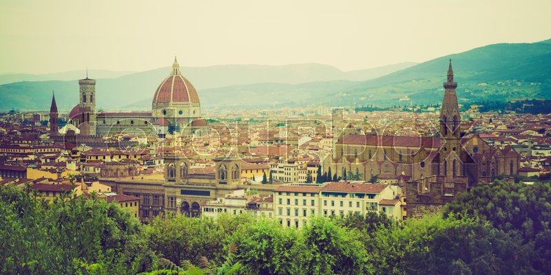 Stock image of 'panorama of Florence, Tuscany, Italy'
