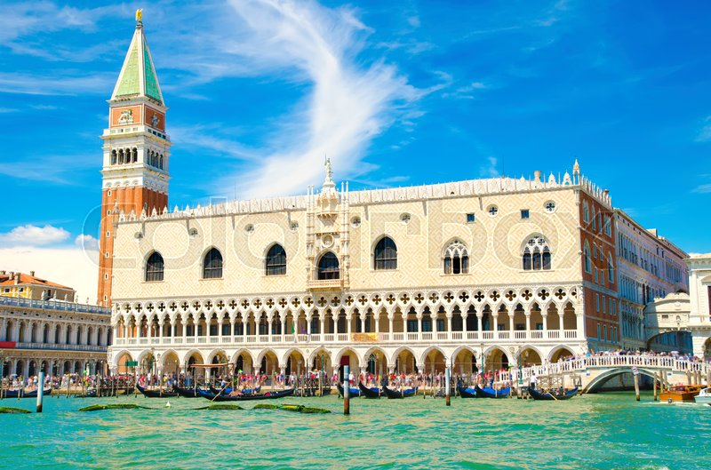 Editorial image of 'Piazza San Marco with Campanile and Doge's Palace in Venice, Italy'