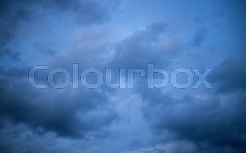 Stock image of 'Blue rain clouds'