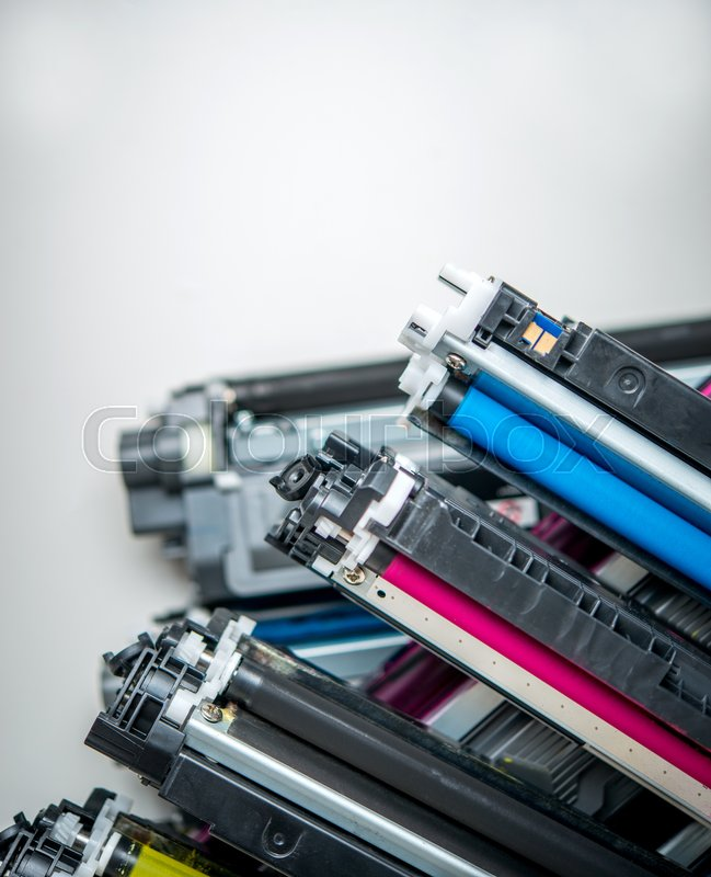 Stock image of 'used laser toner cartridge'