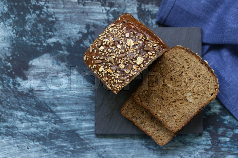 Stock image of 'Rye wholemeal bread - healthy food'