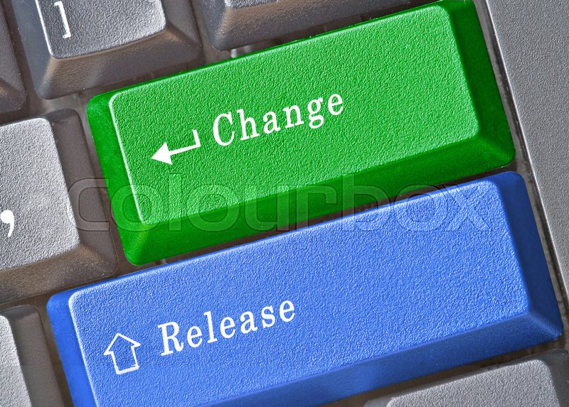 Stock image of 'Keyboard with keys for change and release'