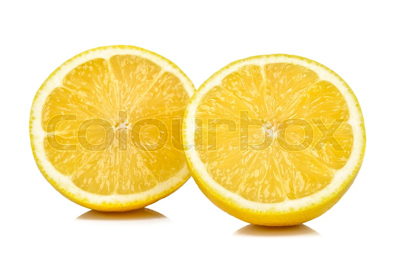 Stock image of 'Half of lemon isolated on white background .'