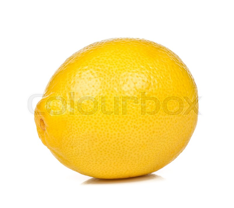 Stock image of 'Lemon isolated on the white background .'