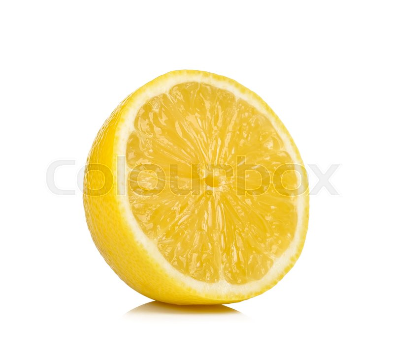 Stock image of 'Half of lemon isolated on white background.'