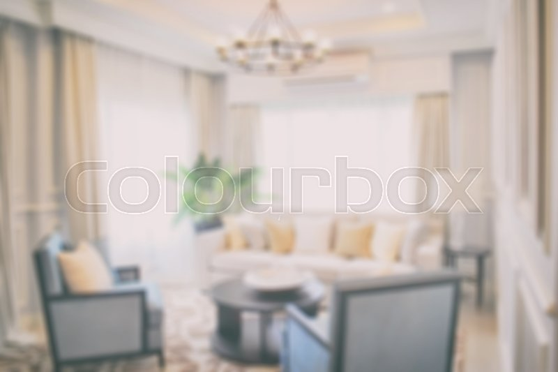 Stock image of 'Defocus luxury living room in modern classic style'