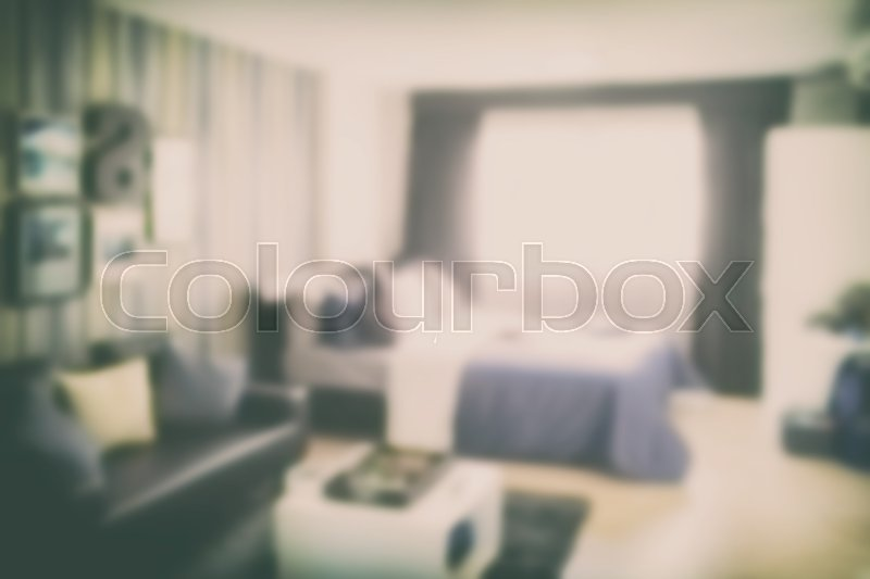 Stock image of 'Blurred background bedroom with sofa'
