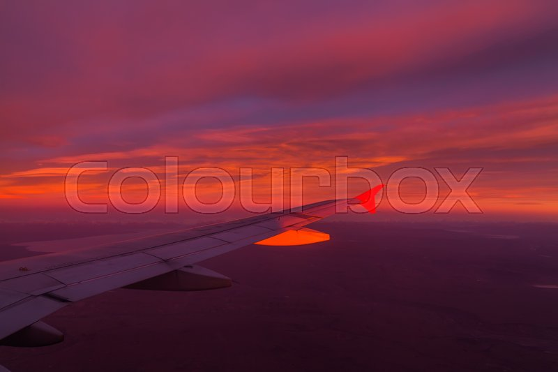 Stock image of 'Flying in the sky and the sea of clouds'