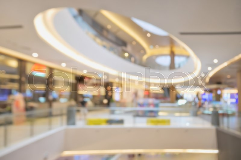 Stock image of 'Blurred beautiful shopping mall background'