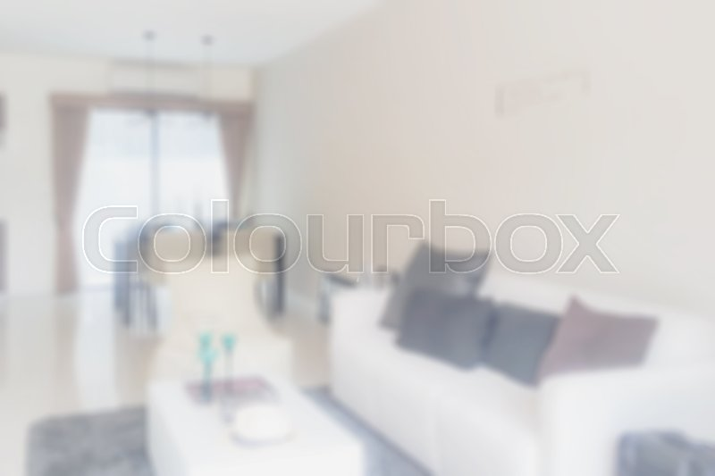 Stock image of 'Defocus background interior living room'