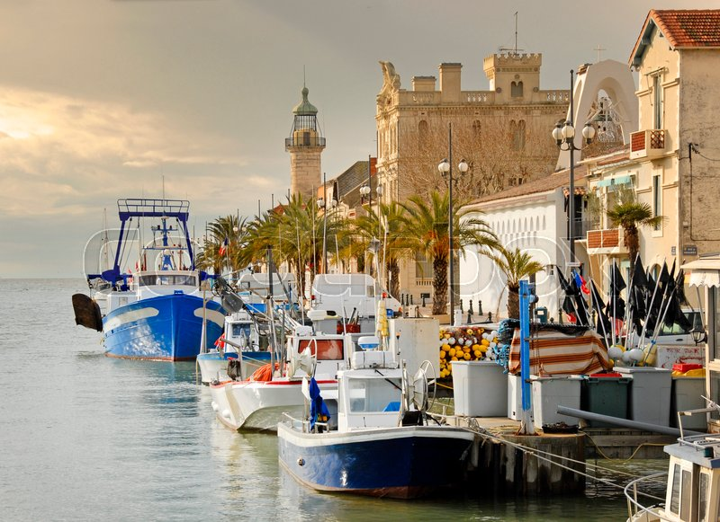 Stock image of 'picture of the port of the Grau du roi, France'