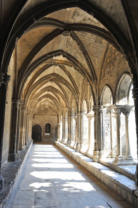 Editorial image of 'picture of a cloister in Arles, Gard, France'