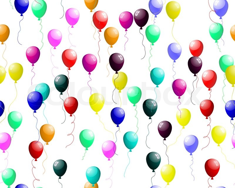 seamless background of colour balloons in the air vector free balloons clip art free balloon clipart pictures