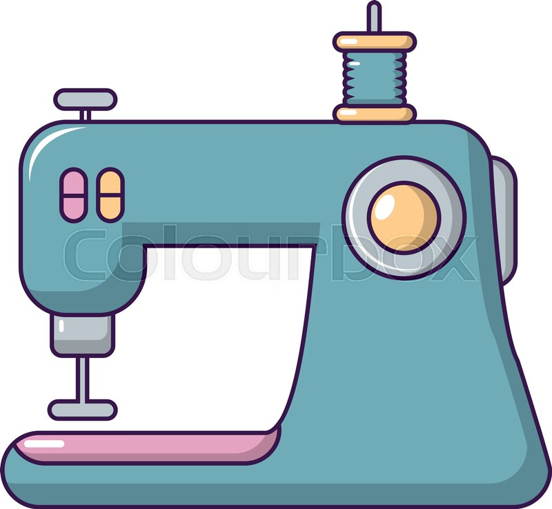 Sewing Machine Icon Cartoon Illustration Of Sewing