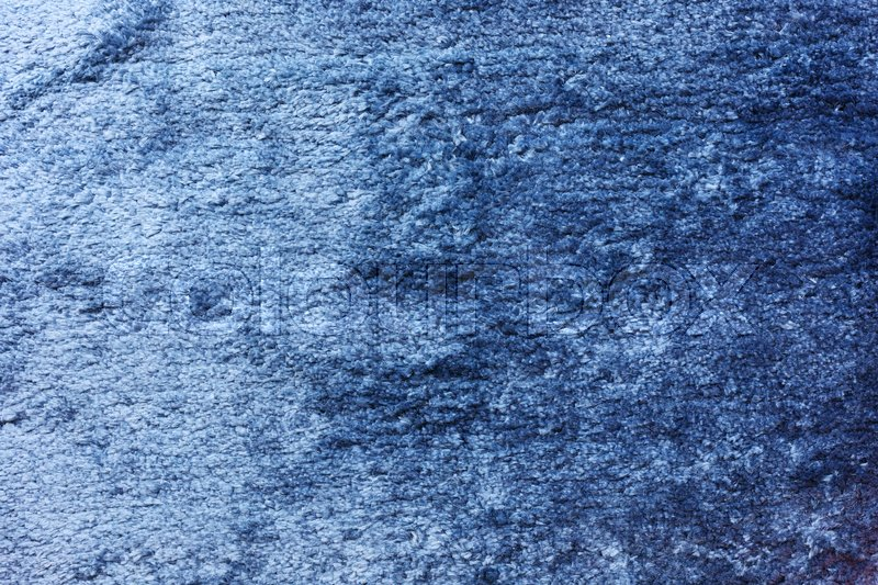 Blue carpet softness texture decorated floor interior house Stock