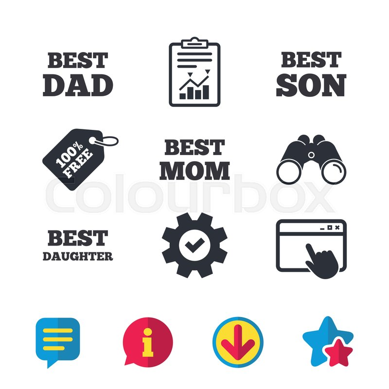 Best Mom And Dad Son And Daughter Icons Award Symbols Browser