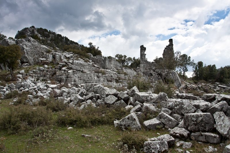 Ancient ruined city of Adada, Turkey, stock photo