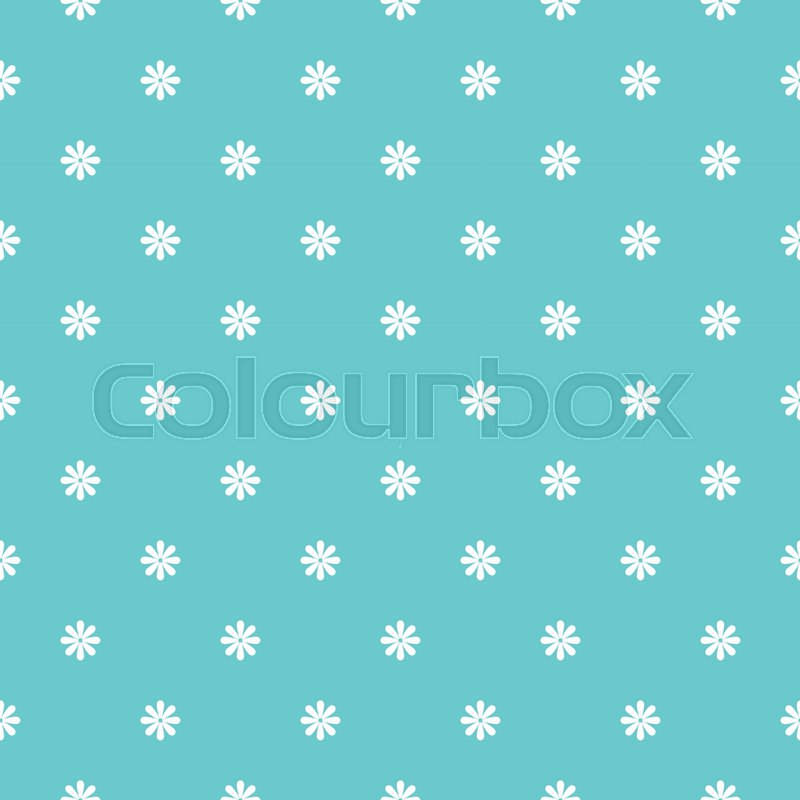 Cute pattern in small flower. Small flowers, vector
