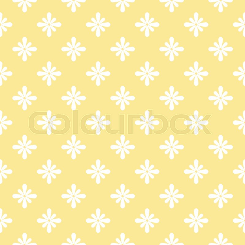Cute pattern in small flower. Small white flowers, vector