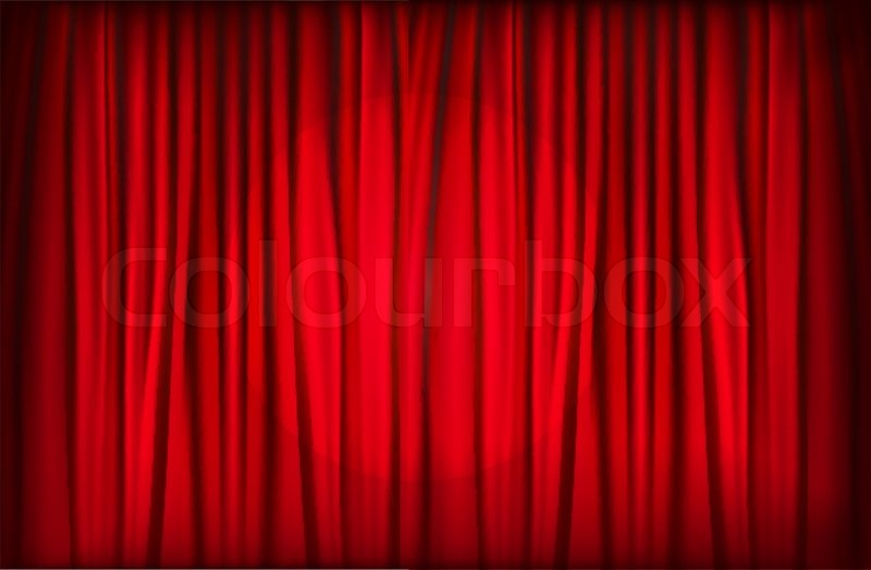 Image Result For Blue Stage Curtains Clipart