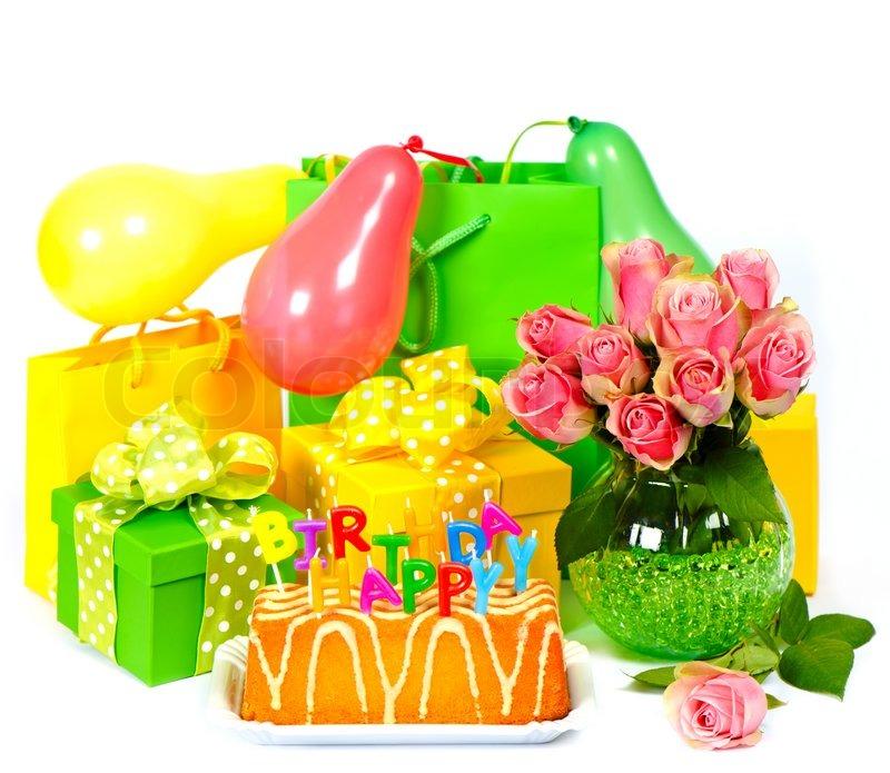 Birthday Party Dekoration Mit Rosen Luftballons Kuchen