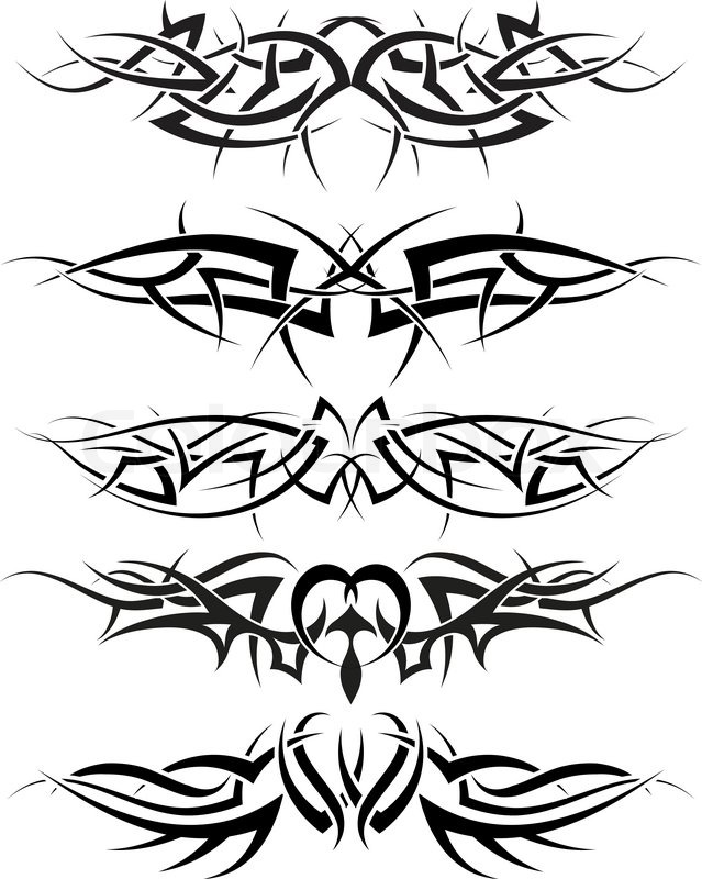 Patterns Of Tribal Tattoo For Design Use Stock Vector Colourbox