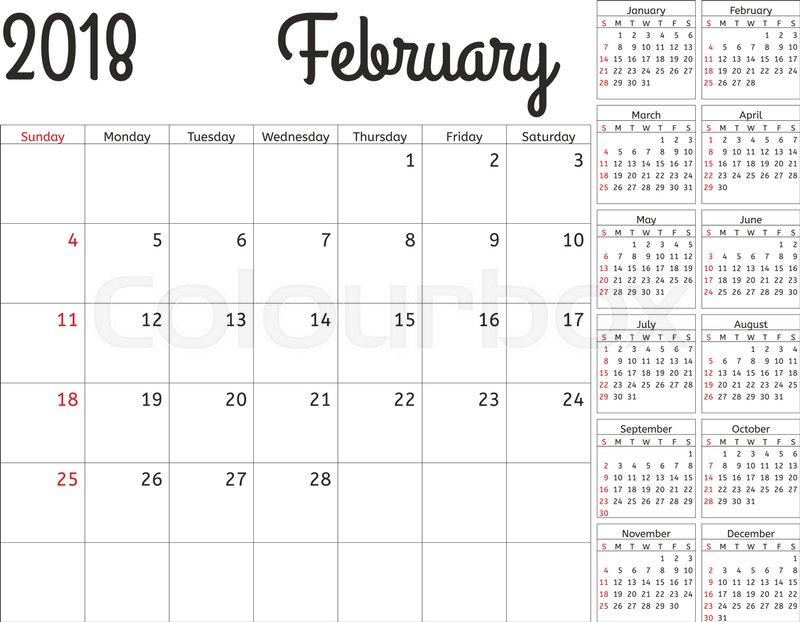calendar planning template