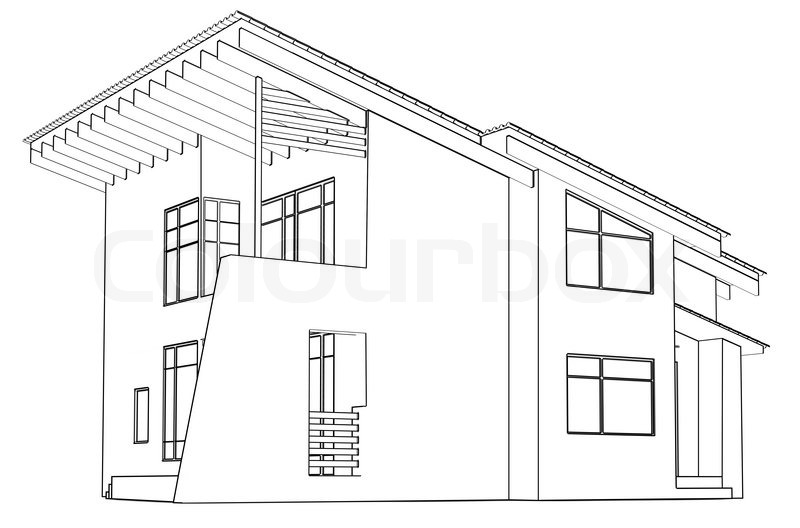 architectural drawing at home in the