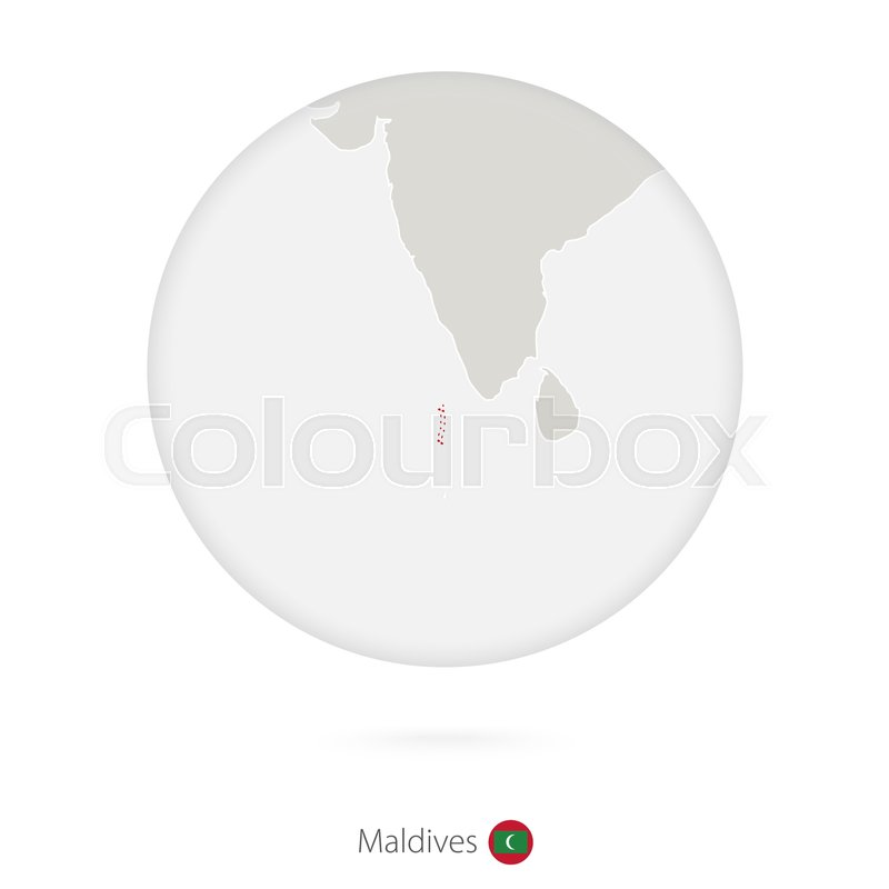 Map of Maldives and national flag in a ...   Stock Vector   Colourbox