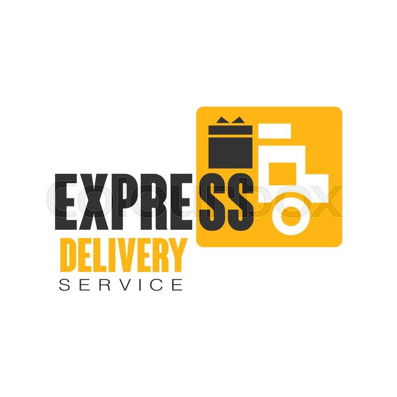 Express delivery service logo design ...   Stock vector   Colourbox