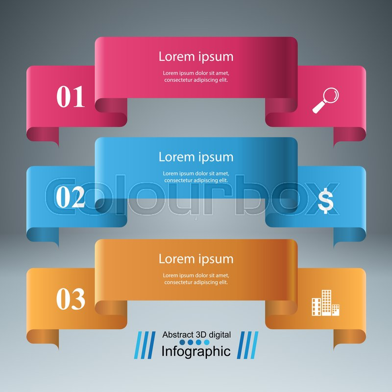 Battery Icon On The Grey Background Business Infographics Origami