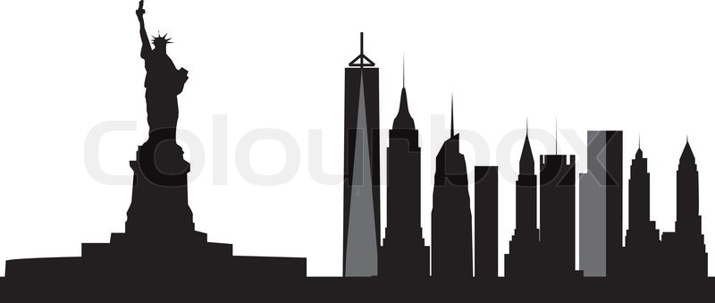 new york skyline stock vector colourbox rh colourbox com new york skyline silhouette vector new york skyline outline vector
