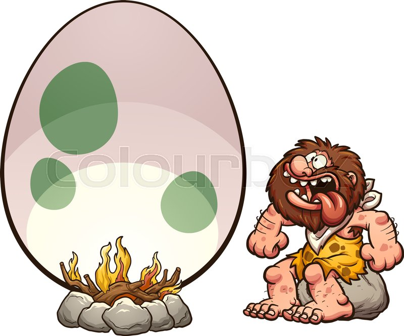 hungry cartoon caveman cooking a giant egg vector clip art rh colourbox com hungry clipart faces clipart angry person